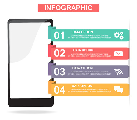 mobile technology: mobile technology infographic Stock Photo