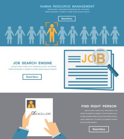 human hand: human resource, HR infographics element and background. recruitment process. Can be used for one page website, business data, web page design, cover page, brochure template. vector illustration