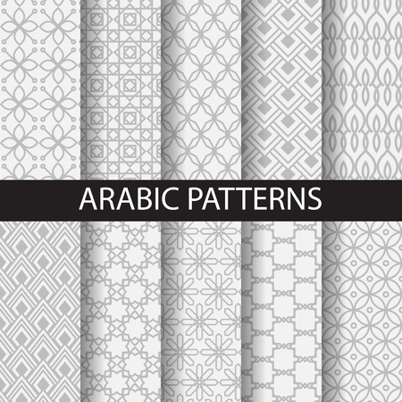 muslim pattern: 10 arabic patterns, Pattern Swatches, vector, Endless texture can be used for wallpaper, pattern fills, web page,background,surface