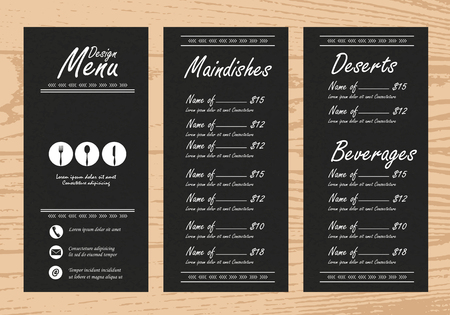 restaurant menu, infographics background and elements. pink on blackboard design. Can be used for  layout, banner, web design, brochure template. Vector illustration Stock Photo