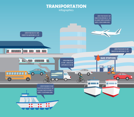 routes: transportation, shipping and city traffic infographics element. can be used for workflow layout, diagram, web design, banner template. Vector illustration Illustration