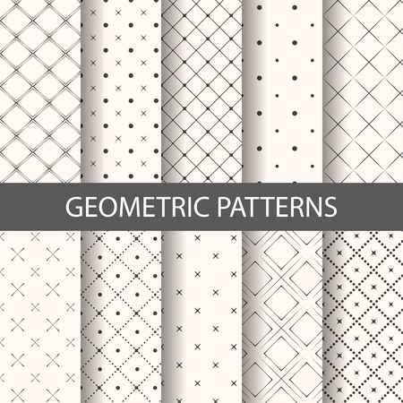 10 different rhombus patterns, Endless texture can be used for wallpaper, pattern fills, web page background,surface textures. Illustration
