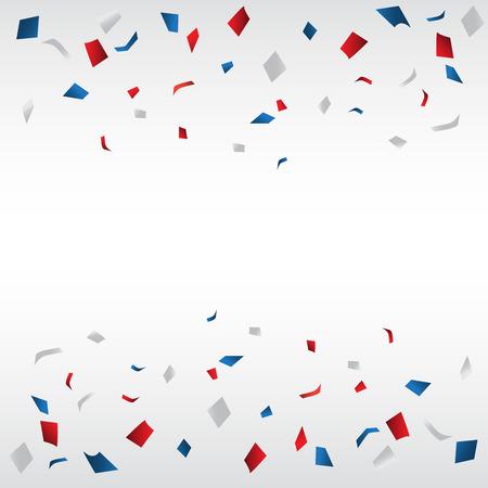 confettis et feu d'artifice fond, peuvent être UES pour la célébration, nouvelle année, anniversaire, noël carte de v?ux. concevoir aussi pour page Web, bannière de l'entreprise, la page de couverture. illustration vectorielle