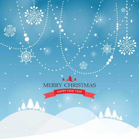 christmas backdrop: christmas with snow greeting card, background and backdrop, vector Illustration