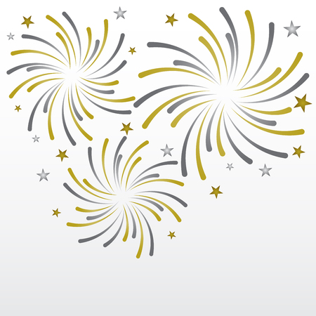 event party: gold and silver firework background, can be ues for celebration, party, and new year event