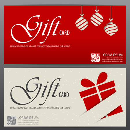Christmas And New Year Gift Voucher Certificate Coupon Template. Can Be Use  For Business Shopping  Christmas Card Layout