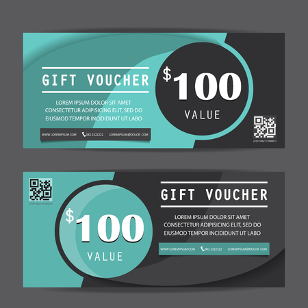 black friday gift voucher certificate coupon template, can be use for business shopping card, customer sale and promotion, layout, banner, web design. vector illustration Иллюстрация