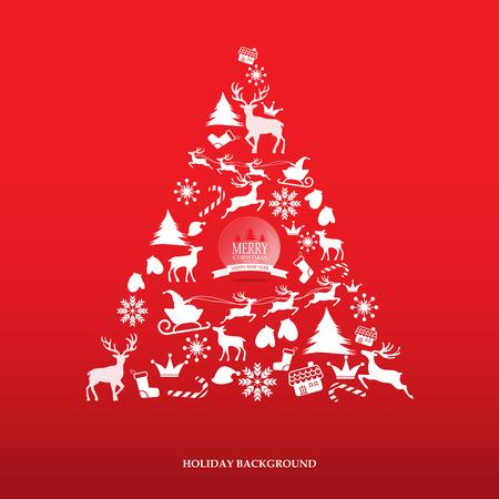 fond de texte: Joyeux No�l chutes de neige pittoresque carte de voeux avec un lettrage de logo. peut �tre utilis� pour backdrop et la conception de page Web, illustration vectorielle.
