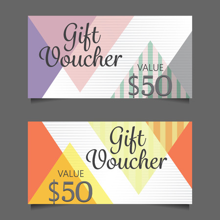 promotion girl: gift voucher certificate coupon template, cute and modern style design for girl and woman. can be use for business shopping card, customer sale and promotion, layout, banner, web design. vector