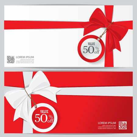 navidad elegante: fiesta de la Navidad y la plantilla de certificado de regalo de año nuevo bono cupón. puede ser el uso de la tarjeta de compras de negocios, la venta al cliente y la promoción, diseño, bandera, diseño de páginas web. ilustración vectorial
