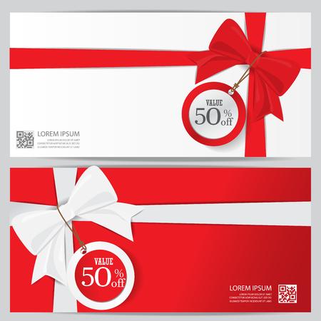 Weihnachten Urlaub und Neujahr Geschenk-Gutschein Coupon Zertifikat Vorlage. kann die Verwendung für Business-Shopping-Karte, Kunden Verkauf und die Förderung, Layout, Banner, Web-Design sein. Vektor-Illustration