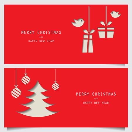 Weihnachten und Neujahr Geschenk-Gutschein Coupon Zertifikat Vorlage. kann die Verwendung für Business-Shopping-Karte, Kunden Verkauf und die Förderung, Layout, Banner, Web-Design sein. Vektor-Illustration Illustration