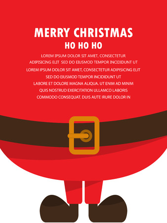 christmas invitation and greeting template. santa clause. can be use for business shopping gift voucher, customer sale promotion, layout, banner, web design. vector illustration Çizim