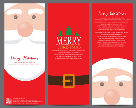 christmas greeting or invitation card. can be use for business shopping card, customer sale and promotion, gift voucher certificate coupon, layout, banner, web design. vector illustration Vectores