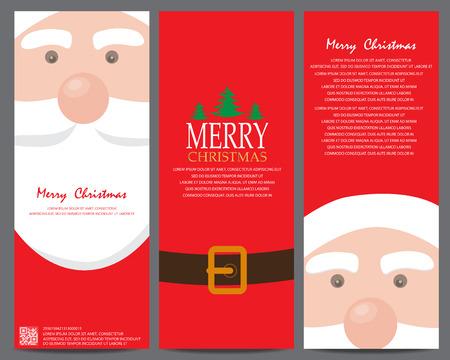 Weihnachtsgruß oder Einladungskarte. kann die Verwendung für Geschäfts Shopping-Karte, Kunden Verkauf und Verkaufsförderung, Geschenkgutschein Zertifikat Coupon, Layout, Banner, Web-Design sein. Vektor-Illustration Illustration