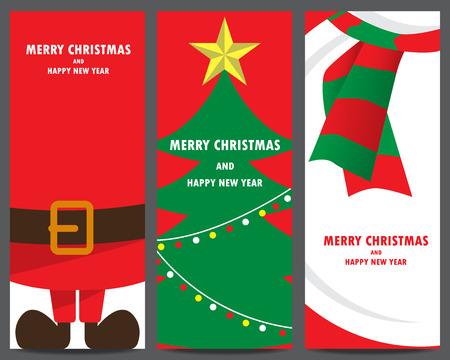 Weihnachts-Einladung und Gruß Vorlage. Weihnachtsmann, Weihnachtsbaum, Schneemann. kann die Verwendung für Geschäfts Shopping Gutschein, Kundenverkaufsförderung, Layout, Banner, Web-Design sein. Vektor-Illustration