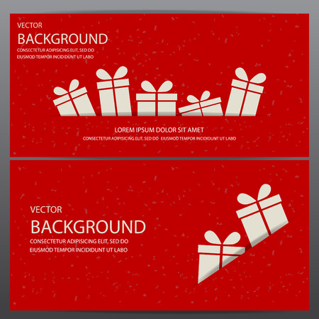 in christmas box: christmas and new year gift voucher certificate coupon template. can be use for business shopping card, customer sale and promotion, layout, banner, web design. vector  illustration