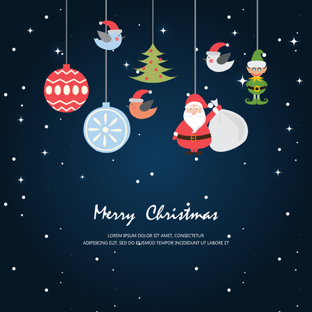 greeting card christmas and new year cardvector and illustration can be use for