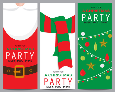 christmas party: christmas invitation template card. can be use for business shopping card, customer sale and promotion, layout, banner, web design. vector illustration
