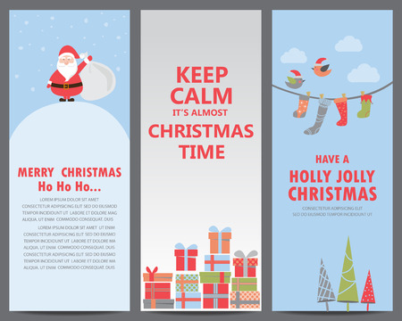 christmas poster: set of christmas background, poster, greeting card, cover web page design element. text can be added. vector illustration