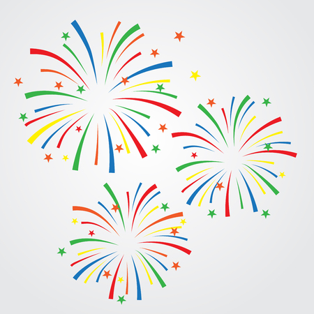 christmas in july: sparkles and firework background, can be ues for celebration, party, and new year event