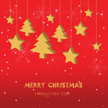 christmas backdrop: Greeting card, Christmas and new year card,vector and illustration can be use for wallpaper, background, backdrop