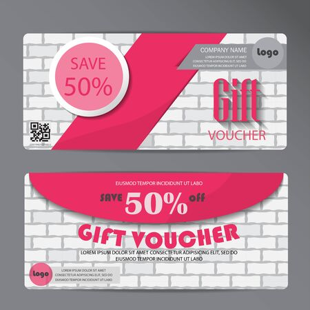 shopping card: gift voucher certificate coupon template, can be use for business shopping card, customer sale and promotion, layout, banner, web design. vector illustration