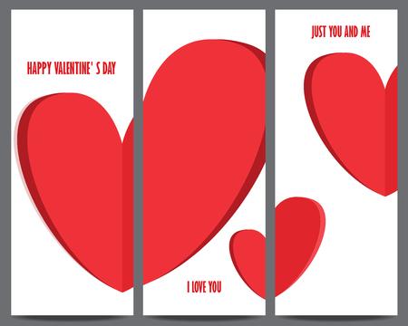 バレンタインのの日の招待状やグリーティング カードのテンプレートです。心臓、ギフト券、顧客販売促進、レイアウト、バナー、web design.wedding 招
