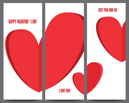 valentine s: valentine s day invitation and greeting card template. heart, can be use for gift voucher, customer sale promotion, layout, banner, web design.wedding invitation. vector illustration