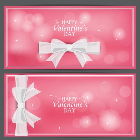 vouchers: love valentine day banner. can be use for greeting card, gift voucher, business cover web page.  can be add text. vector  illustration