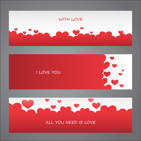 add text: love valentine day banner. greeting card, Flat design Happy Valentines. can be add text. vector  illustration