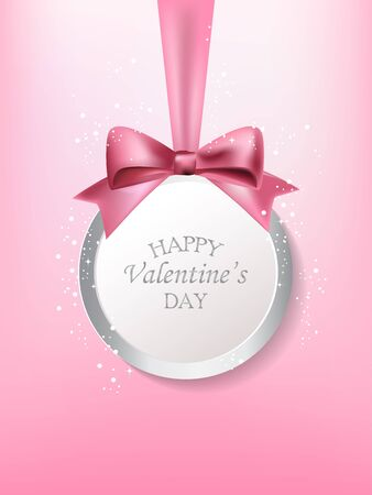 business invitation: love valentine day banner. can be use for pink and sweet greeting card, gift voucher, background, backdrop. can be add text. vector  illustration