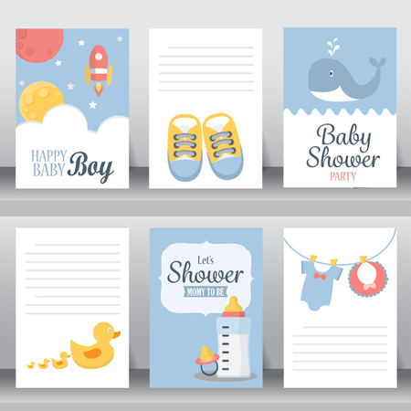 whale baby: happy birthday, holiday, christmas greeting and invitation card.