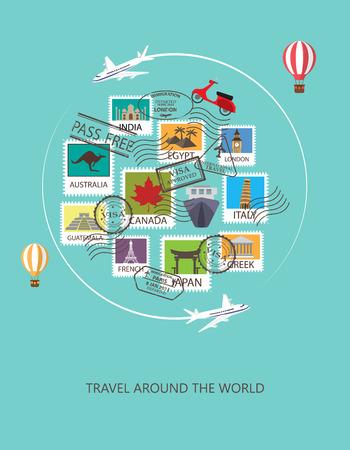 voyage vintage: monde de fond Voyage.