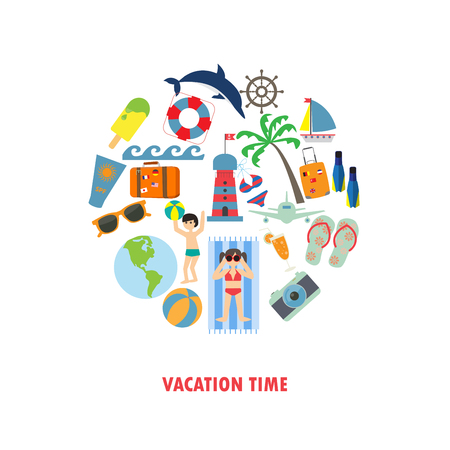 holiday background: summer, holiday, vacation background. Illustration