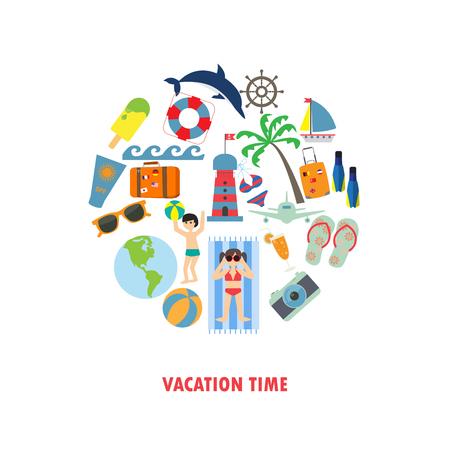 holiday vacation: summer, holiday, vacation background. Illustration
