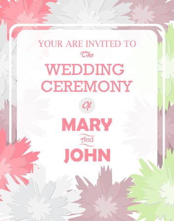 wedding love: wedding invitation card templates, flower concept.  love and valentine day.