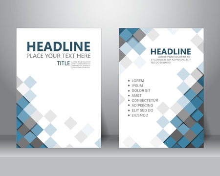 formal business brochure flyer design layout template in A4 size. can be use for poster, banner, graphic element, leaflet and background, vector illustration Vettoriali