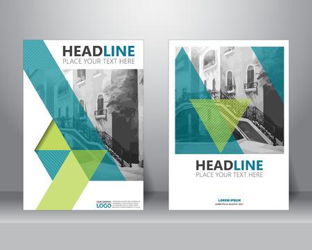 brochure aziendale modello formale layout di progettazione volantino in formato A4. può essere utilizzato per poster, banner, elemento grafico, depliant e sfondo, illustrazione vettoriale Vettoriali