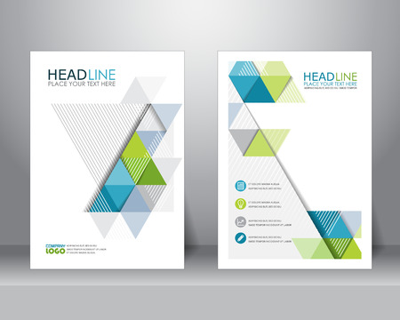abstracte zakelijke brochure ontwerpsjabloon lay-out in A4-formaat. kan worden gebruikt voor poster, banner, grafisch element, folder en achtergrond