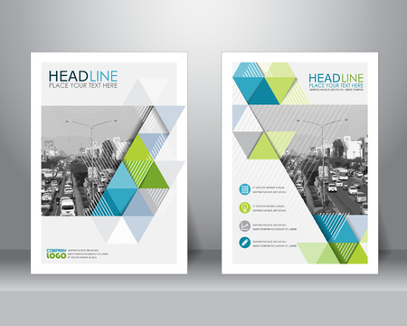 page design: formal business brochure design layout template in A4 size. can be use for poster, banner, graphic element, leaflet and background