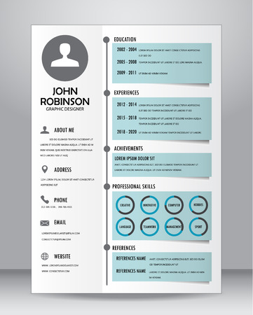 Job Resume Or CV Template Layout Template In A4 Size. Royalty Free ...
