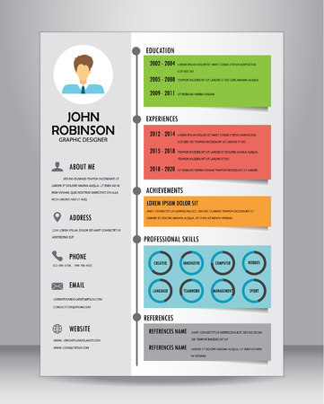 vitae: Job resume or CV template layout template in A4 size.