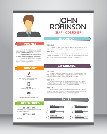 Job cv of CV template layout template in A4-formaat.