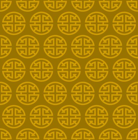 curve creative: Golden chinese tradition pattern.