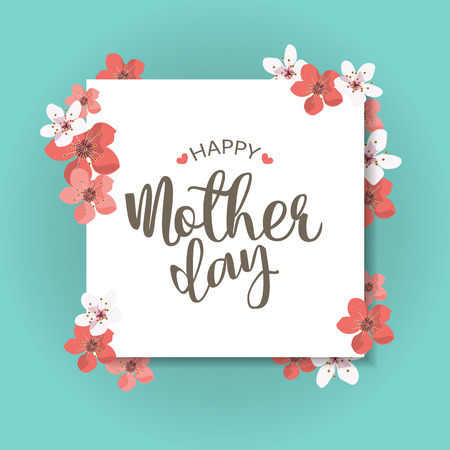 Happy mother day, holiday background. can be use for sale advertisment, backdrop. Illustration