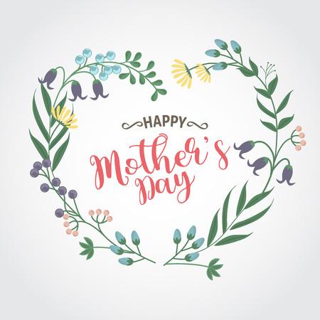 Happy Mother day, vector Çizim
