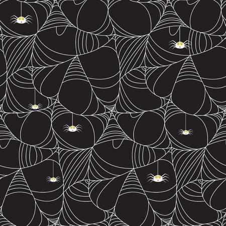 halloween spider seamless pattern, vector illustration Çizim