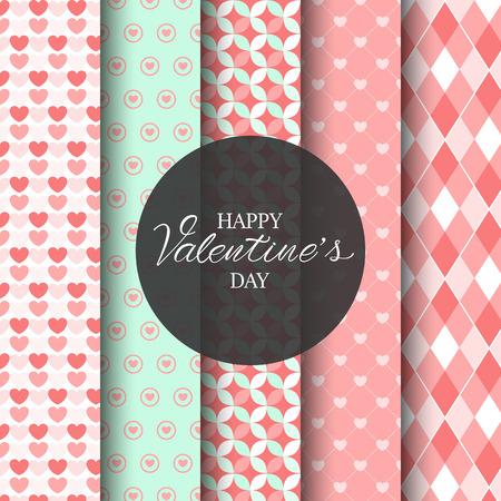 liefde en Valentijnsdag patroon ingesteld, kan eindeloze textuur worden gebruikt voor behang, opvulpatronen, webpagina-achtergrond, oppervlakte texturen.