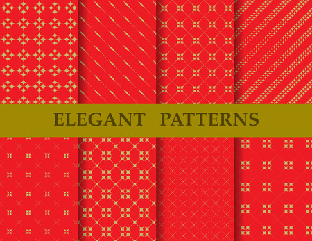 8 different elegant chinese patterns. Endless texture can be used for wallpaper, pattern fills, web page background,surface textures,tile, greeting card, scrapbook, backdrop